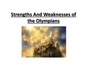 Strengths And Weaknesses of the Olympians