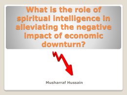 What is the role of spiritual intelligence in alleviating the negative
