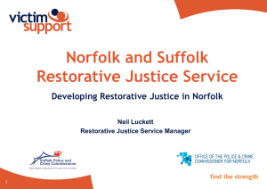 Developing Restorative Justice - Norfolk Association of Local Councils