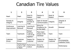 Canadian Tire Values - The Appreciative Inquiry Commons