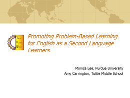 Promoting Problem-Based Learning for English