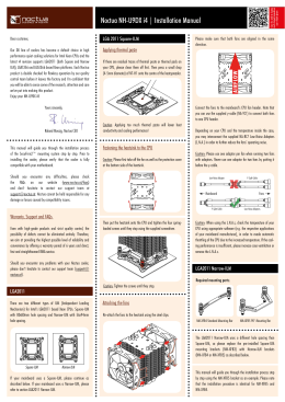 Manual for Noctua NH-9DX i4