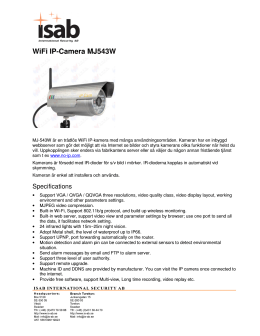 WiFi IP-Camera MJ543W