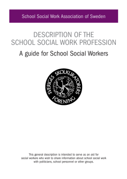 A guide for School Social Workers 2013