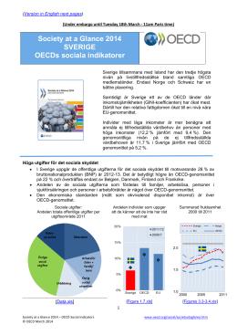 Society at a Glance 2014 SVERIGE OECDs sociala indikatorer