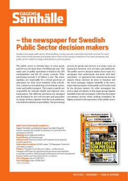 – the newspaper for Swedish Public Sector decision