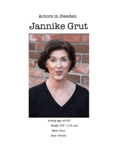Jannike Grut - Actors in Sweden