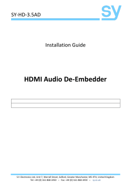 HDMI Audio De
