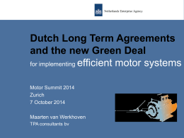 Dutch Long Term Agreements and the new Green
