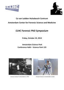 CLHC Forensic PhD Symposium
