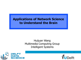 Applications of Network Science to Understand the Brain