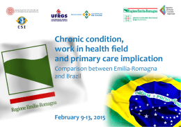 Chronic condition, work in health field and primary care implication