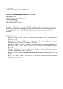 Seminar: Advances in ordinal data analysis