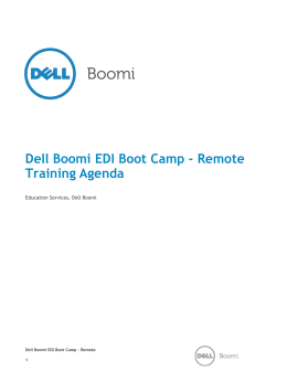 Dell Boomi EDI Boot Camp - Remote Training Agenda