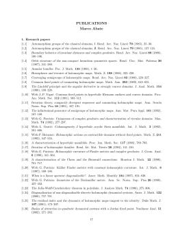 PUBLICATIONS Marco Abate - Dipartimento di Matematica