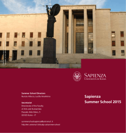 Summer School 2015 Brochure