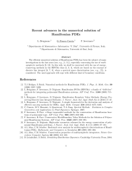 Recent advances in the numerical solution of Hamiltonian PDEs
