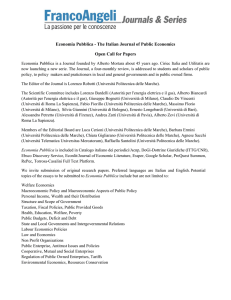 Economia Pubblica - The Italian Journal of Public Economics Open