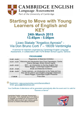 Starting to Move with Young Learners of English and KEY 24th