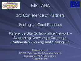 Scaling Up Good Practices - Maddalena Illario, Reference Site