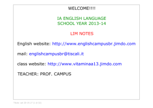 IA ENGLISH LESSONS - UNIT 2 - About English!!!