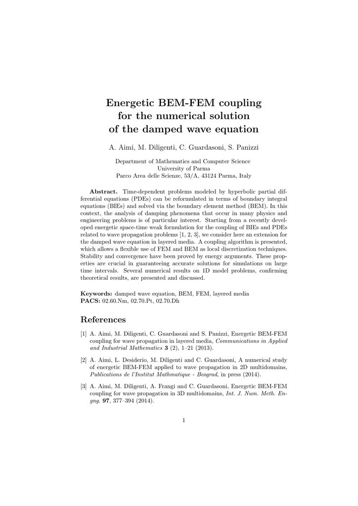 Energetic BEM-FEM coupling for the numerical solution of the