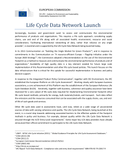 Life Cycle Data Network Launch