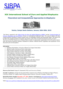 XIX International School of Pure and Applied