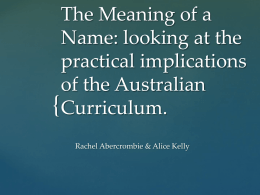 Approaches to the Australian Curriculum in Year 8 English.