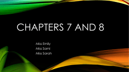 Chapters 7 and 8