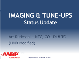 2014-Imaging-Tune-ups-status-update_TCS - AARP Tax-Aide