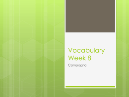 Vocabulary Week 8