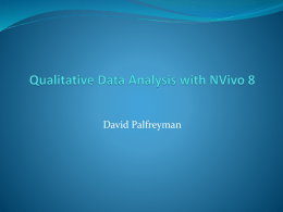 Nvivo 8 Introduction