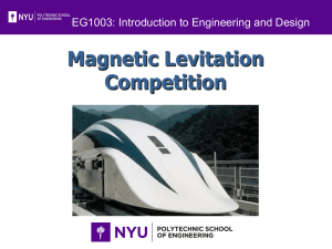 FALL DESIGN REPORT Magnetic Levitation Demonstration Apparatus