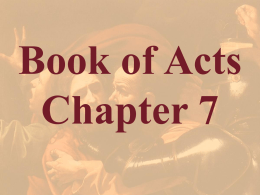 Acts Chapter 7 - Bible Study Resource Center
