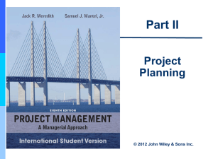 Project Activity Planning