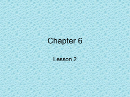 Chapter 6, lesson 2