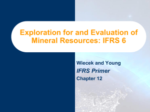 Exploration for and Evaluation of Mineral Resources: IFRS 6