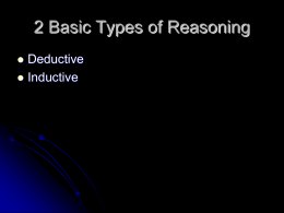 3 Basic Types of Reasoning