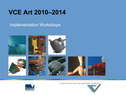 VCE Art 2010–2014 - Victorian Curriculum and Assessment Authority