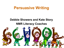 Persuasive Writing Grade 3 and 5