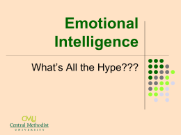 Emotional Intelligence - Central Methodist University