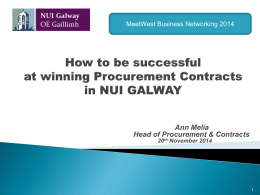 Model of Procurement at NUI Galway