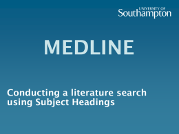Why use Subject Headings rather than Keyword searching?