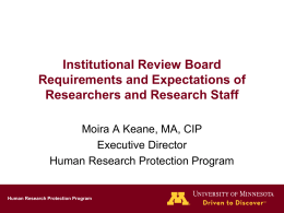 Research Coordinators and AAHRPP Powerpoint Presentation