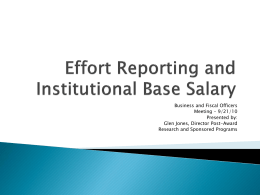 Effort ReInstitutional Base Salary
