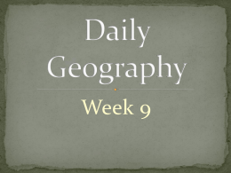 Daily Geography Week 9
