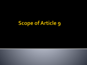 Scope of Article 9 - professorbeyer.com
