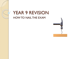 YEAR 9 REVISION