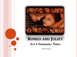 Romeo and Juliet Act 4 Notes